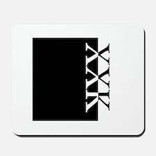 XXK Typography Mousepad