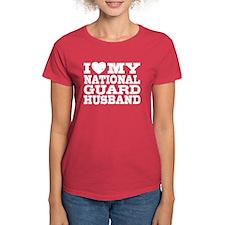 I Love My National Guard Husband Tee