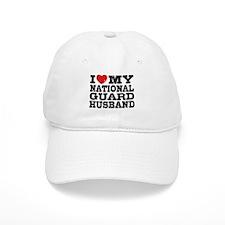 I Love My National Guard Husband Baseball Cap