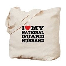 I Love My National Guard Husband Tote Bag