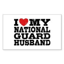I Love My National Guard Husband Decal