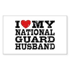 I Love My National Guard Husband Stickers