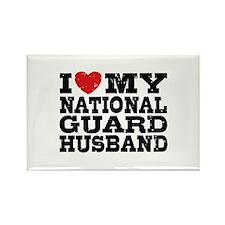 I Love My National Guard Husband Rectangle Magnet