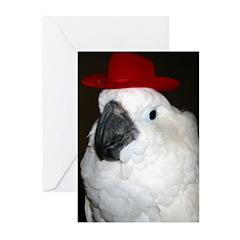 Umbrella Cowboy Greeting Cards (Pk of 10)