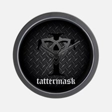 Tattermask Heavy Metal Wall Clock