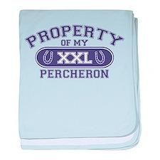 Percheron PROPERTY baby blanket