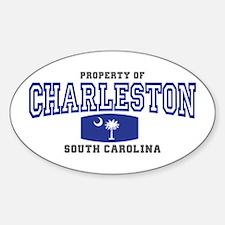 Charleston South Carolina Sticker (Oval)