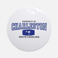 Charleston South Carolina Ornament (Round)