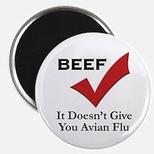 Beef=No Avian Flu Magnet