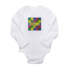 Autism Awareness Blocks Long Sleeve Infant Bodysui