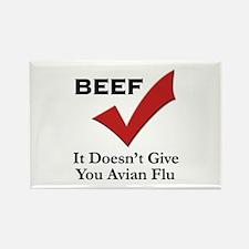 Beef=No Avian Flu Rectangle Magnet (100 pack)