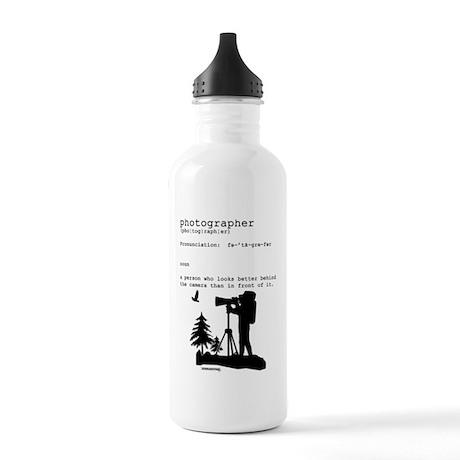 Photographer definition & cam Stainless Water Bott