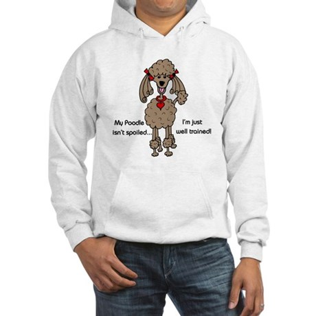 Chocolate Poodle Hooded Sweatshirt