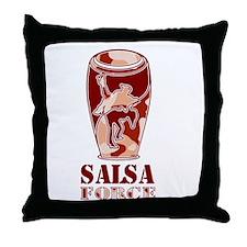 Salsa Force Brown Throw Pillow