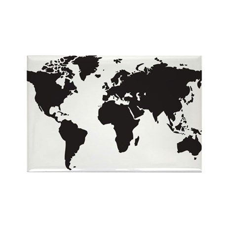 world map Rectangle Magnet (10 pack)