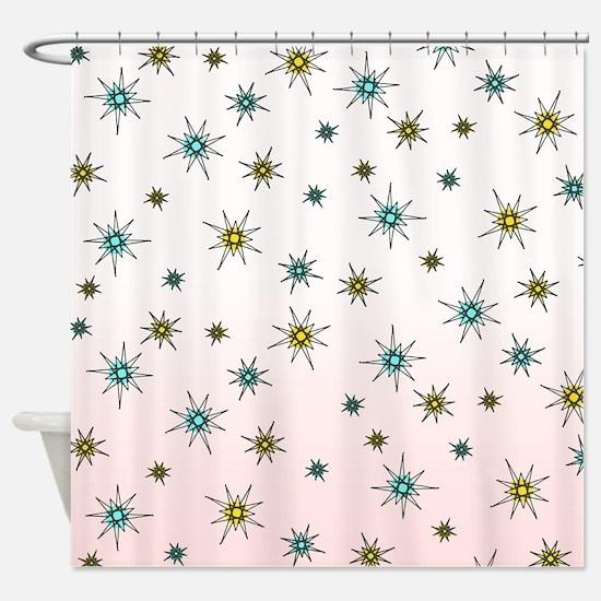 1950s Starburst Shower Curtain