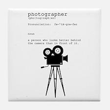 Definition and vintage camera Tile Coaster