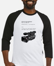 Definition and vintage camera Baseball Jersey