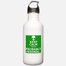 Keep calm and carry on parody Water Bottle