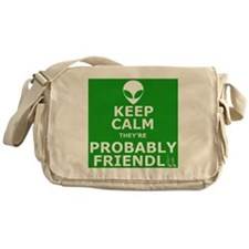 Keep calm and carry on parody Messenger Bag