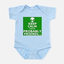 Keep calm and carry on parody Infant Bodysuit
