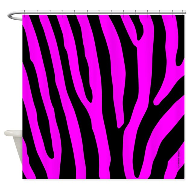 Pink And Black Zebra Stripes Shower Curtain By Rainbowhot