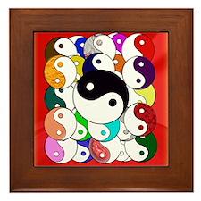 Yin Yangs Framed Tile
