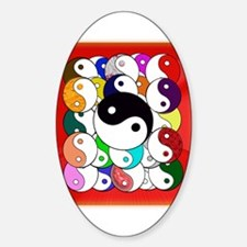 Yin Yangs Sticker (Oval)