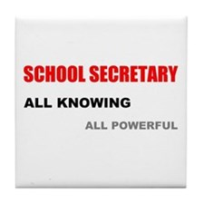 School Sec. All Knowing All P Tile Coaster