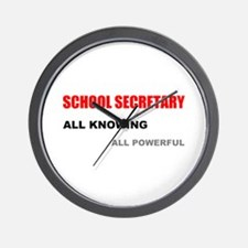 School Sec. All Knowing All P Wall Clock