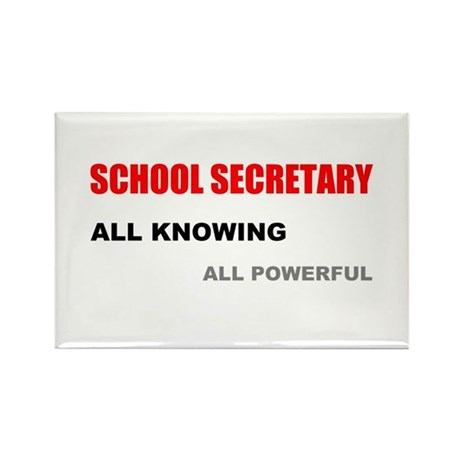 Secretary Christmas Gift Ideas Part - 50: School Sec. All Knowing All P Rectangle Magnet
