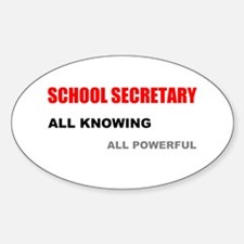 School Sec. All Knowing All P Sticker (Oval)
