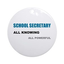 School Sec. All Knowing All P Ornament (Round)