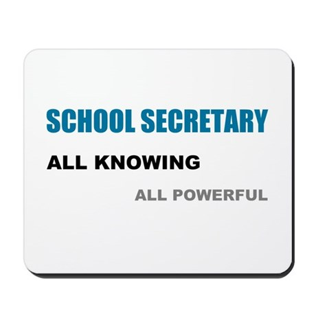 School Sec. All Knowing All P Mousepad