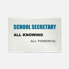 School Sec. All Knowing All P Rectangle Magnet