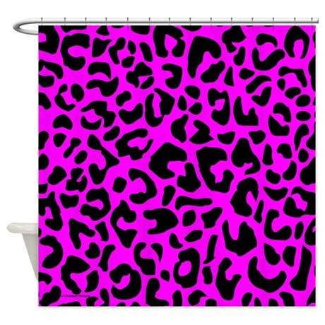 Pink And Black Leopard Spot Shower Curtain By Rainbowhot