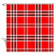 Red and Black Plaid Shower Curtain