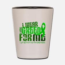 I Wear Lime 6.4 Lymphoma Shot Glass
