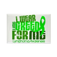 I Wear Lime 6.4 Lymphoma Rectangle Magnet