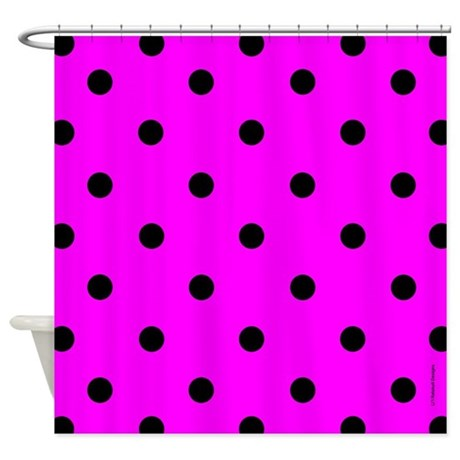 Good Pink And White Polka Dot Shower Curtain Window Curtains Uamp Drapes  With Polka Dot Shower Curtain.