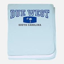 Due West South Carolina baby blanket