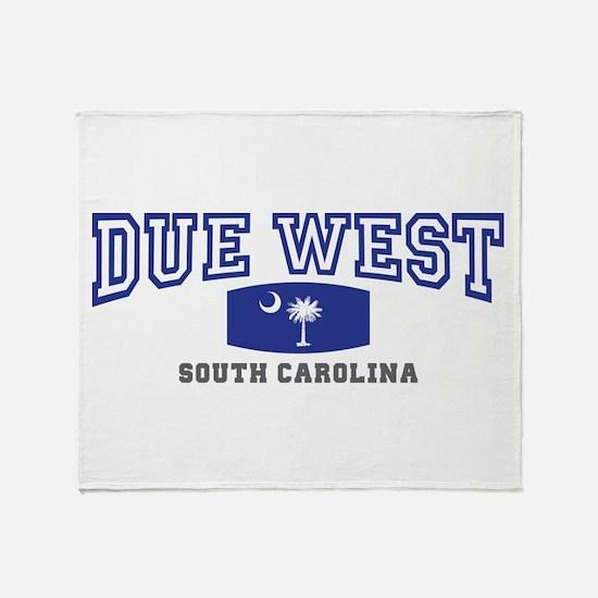 Due West South Carolina Throw Blanket