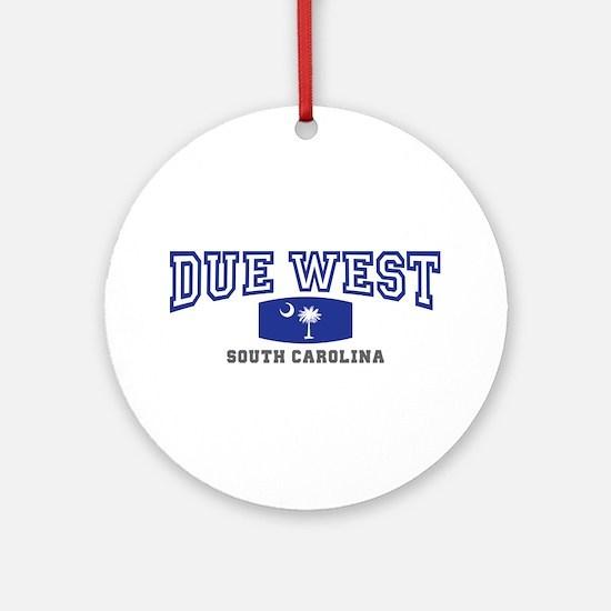 Due West South Carolina Ornament (Round)