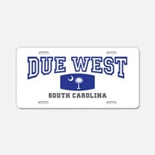 Due West South Carolina Aluminum License Plate