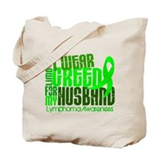 I Wear Lime 6.4 Lymphoma Tote Bag