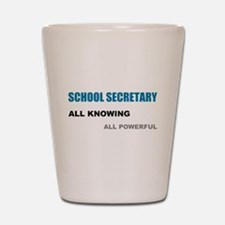 School Sec.All Knowing All Po Shot Glass