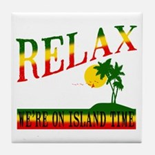 Relax Tile Coaster