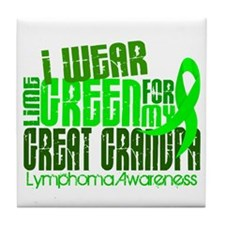 I Wear Lime 6.4 Lymphoma Tile Coaster