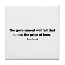 Government Fall Raises Price Beer Tile Coaster