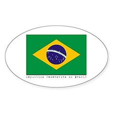 Brasil Oval Decal